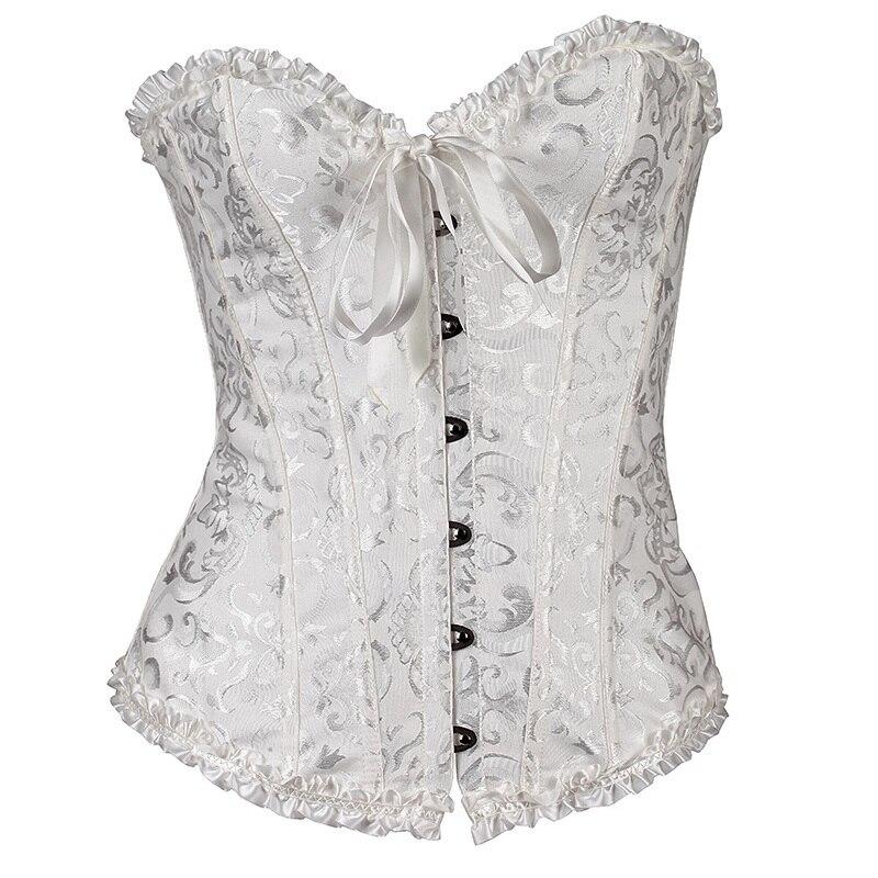 Wholesale 2017 hot sale white plus size waist cincher   corset     bustier   corselet overbust   corset   shaper body shapers for women