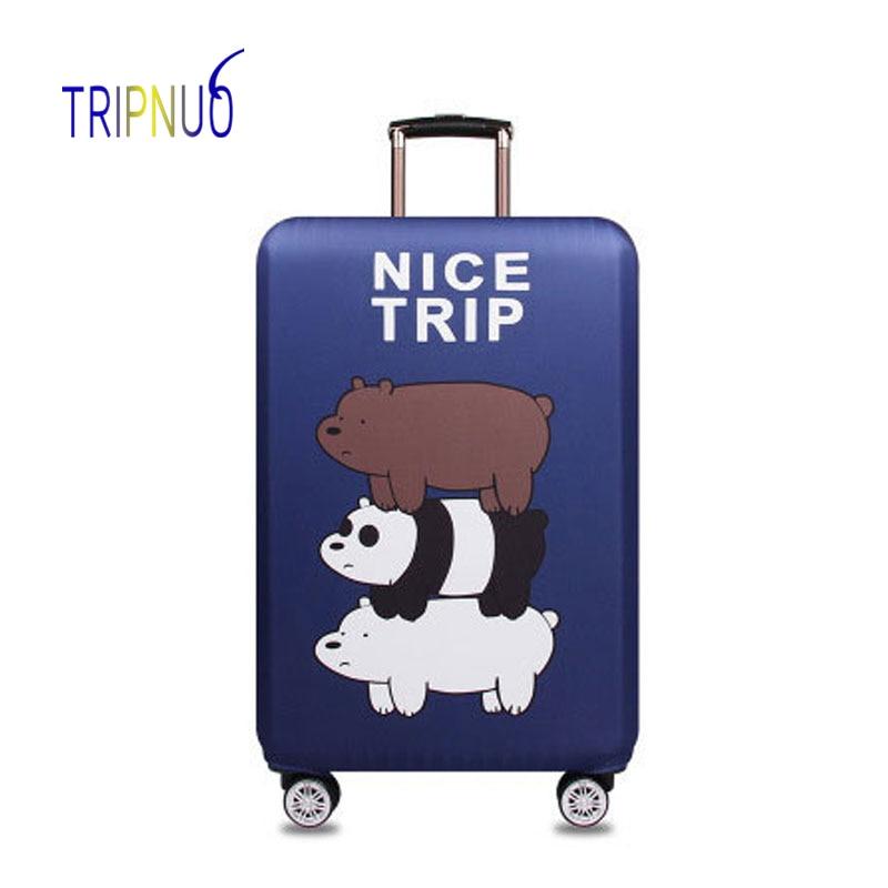 TRIPNUO эластичная ткань наборный медведь Чемодан защитная крышка, Suitable18-32 дюймов, троллейбус случае чемодан, дорожные аксессуары ...