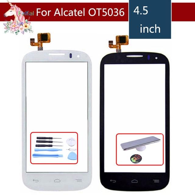 Cho Alcatel One Touch POP C5 5036 OT 5036 5036D 5037E OT5036 Màn Hình Cảm Ứng Digitizer Cảm Biến Bên Ngoài Glass Lens Bảng Điều Chỉnh thay thế