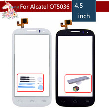 For Alcatel One Touch POP C5 5036 OT 5036D 5037E OT5036 Screen Digitizer Sensor Outer Glass Lens Panel Replacement