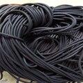 Espuma preta tira de vedação de borracha de silicone redonda dia1 1.5 2 3 4 5 6 7 8 mm oring linha cabo espuma moldagem borracha amortecedor à prova dwaterproof água
