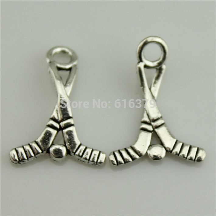 Free Shipping 50Pcs Antique Silver Zinc Alloy Golf Charms Pendants for Jewelry Making charm Handmade DIY 22*16mm