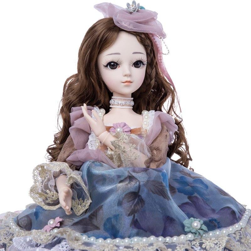 เจ้าหญิงแอนนา 1/3 60 ซม. ตุ๊กตา BJD DIY แฟชั่นวิกผมตุ๊กตาเจ้าหญิงตุ๊กตาของเล่นสาว-ใน ตุ๊กตา จาก ของเล่นและงานอดิเรก บน   1