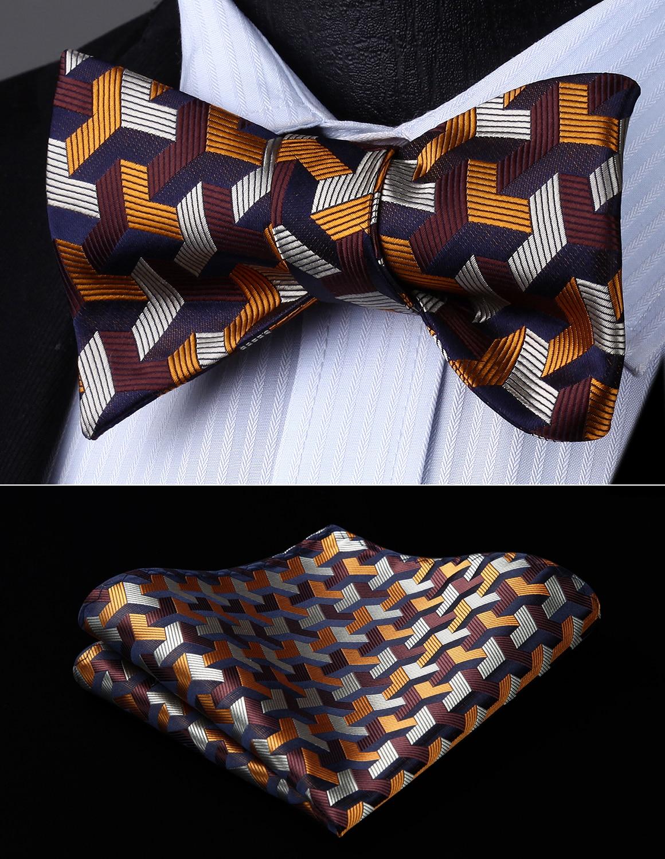 Men Cummerbund Bow Tie Satin Pocket Square Handkerchief Hanky Set Party Wedding