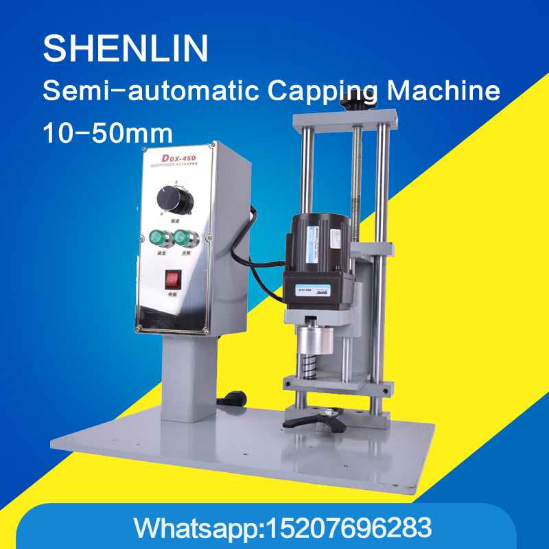 Bottle capping machine Bottle capper automatic cap screwing sealer electric capping tool cola soft drink bottle chuck 10-50mm 2016 manual plastic bottle capping sealing machine handheld cap screwing machine 10 50mm free ship