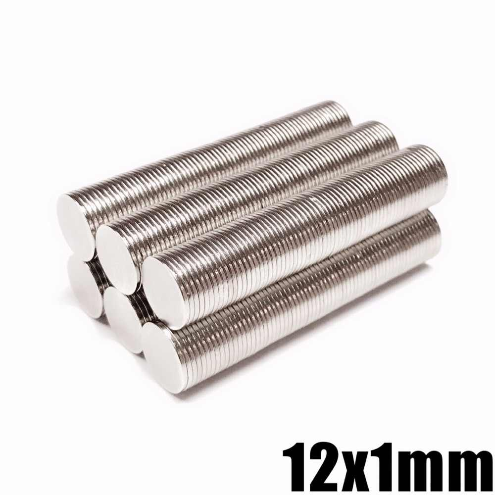 10/20/50/100 Pcs N35 12 Mm X 1 Mm Kuat Bulat Magnet Dia 12X1 Mm Magnet Neodymium Rare Earth Magnet 12X1 Mm