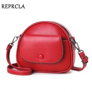 Image 1 - REPRCLA Fashion Designer Women Shoulder Bag PU Leather Crossbody Messenger Bags Ladies Handbag Bolsa Feminina
