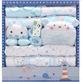 17 Piece Cotton 100% New Newborn Baby Gift Set baby Cartoon Spring and Summer Clothing Gift Set Infant Clothes Baby Girl Clothes