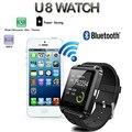 Bluetooth smart watch u8 para apple android soporte telefónico camrea hombres reloj u9 pk gt08 gv18 a1 smartphone