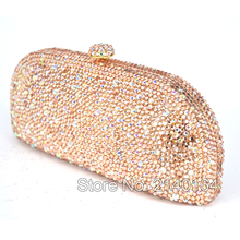 Round Luxury Crystal Diamond bag tote Clutch Bag wedding Party Purse Wholesale Luxury Hollow Out Crystal