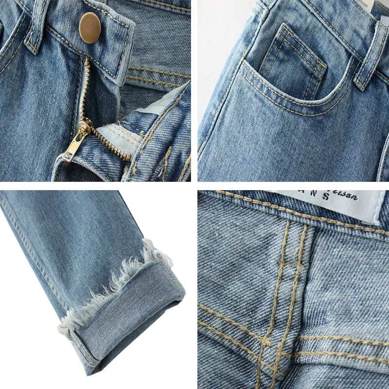 Women's Tassel Harem Pants High Waist Jeans Vintage Female Denim Pencil Pant Plus Size Ankle-Length Brand Fashion Trousers C3826