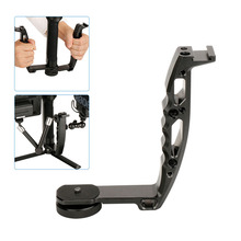 AgimbalGear Handle Mount Gimbal Bracket TransMount for Dji Osmo Mobile 2 Ronin S Mini Dual Grip Monitor LED Light Microphone
