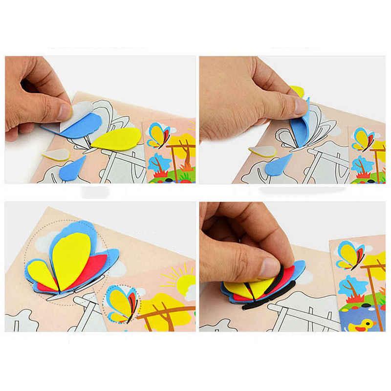 Diy artesanal 3d eva espuma quebra-cabeça adesivo auto-adesivo eva artesanato brinquedos aprendizagem & educação brinquedos 18.5cm * 26cm