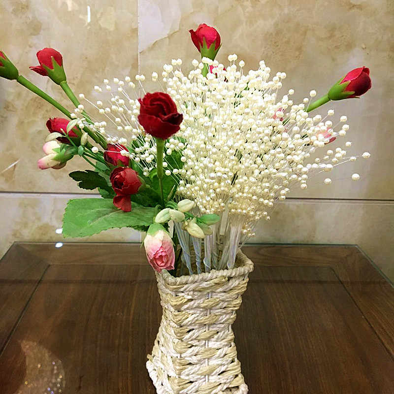Suef 1/5/10 pçs pérola estrela galhos buquê de noiva decoração de buquê de casamento diy arranjo floral acessórios @ 2