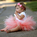 2016 Fashion Baby Girls Skirts Kid Children Infant Summer Skirt Girl Pettiskirt Photography Dance Party Costume F1