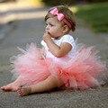 2016 Moda Bebê Meninas Saias Pettiskirt Da Saia Da Menina Kid Crianças Infantil Verão Fotografia Traje Festa de Dança F1