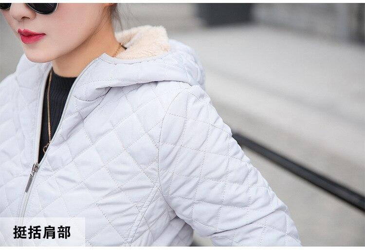 Autumn 2019 New Parkas basic jackets Female Women Winter plus velvet lamb hooded Coats Cotton Winter Jacket Womens Outwear coat 29