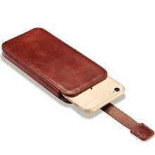 Vintage Mobile Téléphone Sac Pochette Pour Apple iPhone 7 6 6 S De Luxe véritable Push Sur Étui En Cuir Cas Pour iPhone 6 6 S Plus/7 Plus