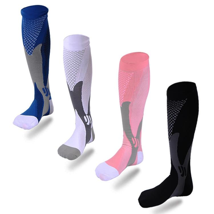 Prix pour Magie de compression bas sports de Plein Air chaussettes Hommes Femmes nylon fil Stretch chaussettes physique d'exercice Football Bas chaussettes