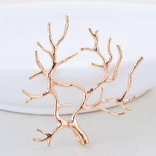 4PCS 35x39MM 24K Gold Color Plated Brass Branch Charms Pendants High Quality Diy Jewelry Findings Accessories