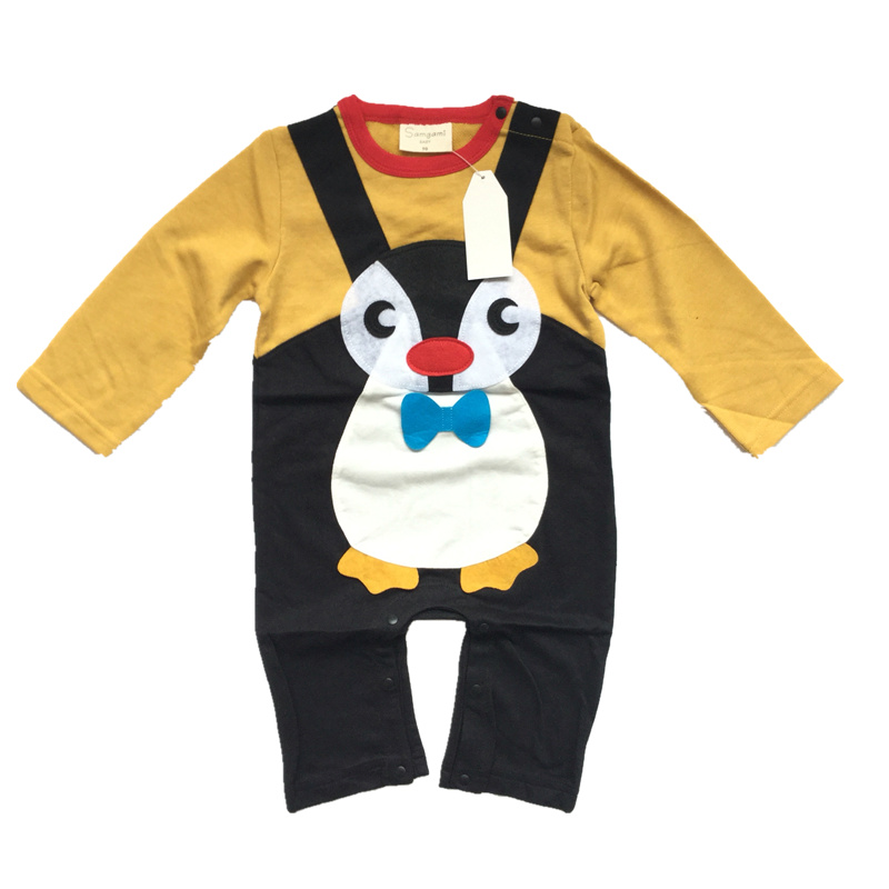 Baby Clothes Kids Rompers Spring Autumn FRENCH TERRY Cartoon Penguin Bear Newborn Baby Jumpsuit Baby Infant Onesie Costume