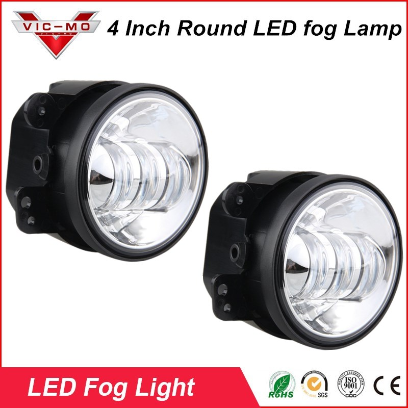 4 Round Led Fog Lights 6500K Auxiliary Light Off Road Fog Lamps For Dodge Journey Magnum