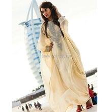 New Arrival Caftan Marocain Islamic Abaya in Dubai Evening Dresses Half Sleeve Evening Gowns Moroccan Kaftan