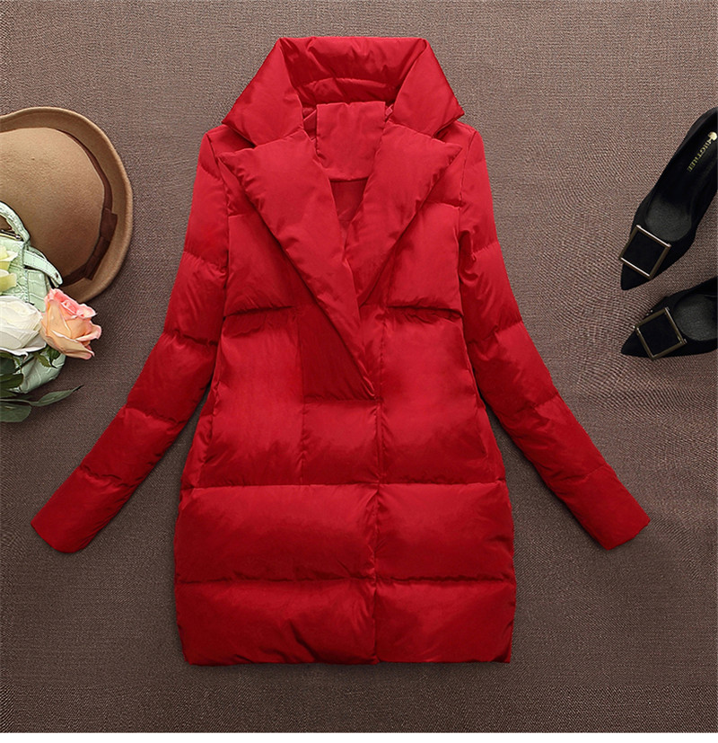 2016 New Winter Down Jacket Women Korean Fashion Warm Thin Parkas Ladies Coat Plus Size Solid