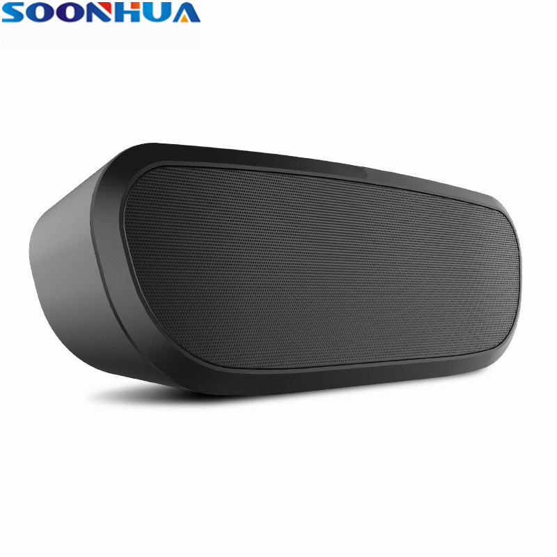 New Arrival SOONHUA Bluetooth Speaker Super Bass Portable Wireless Stereo Player Support TF Card U Disk Playing With HD Mic