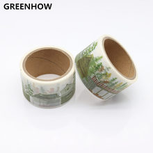 GREENHOW 1PC 30mm*5m Ice Cream Washi Tape Printed Greetings For You Adhesive Tape Cute Scrapbooking Decorative Paper Tape 9013