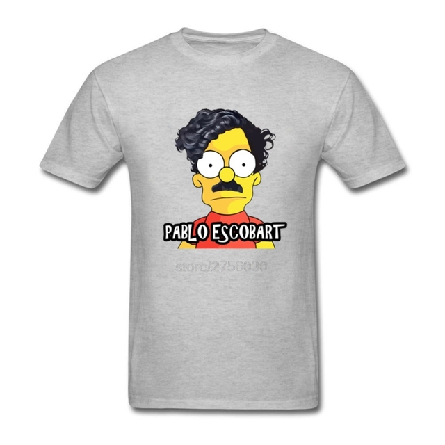 32834ca8c78b Cheap Sale Youth Pablo Escobart Mens T Shirts Short Sleeved Clothes Crewneck  Online Tees Men s Costume T-Shirt
