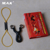 High Quality 8 Style Titanium Steel Slingshot Traditional Recurve Slingshot with a Group Rubber for Outdoor Shooting