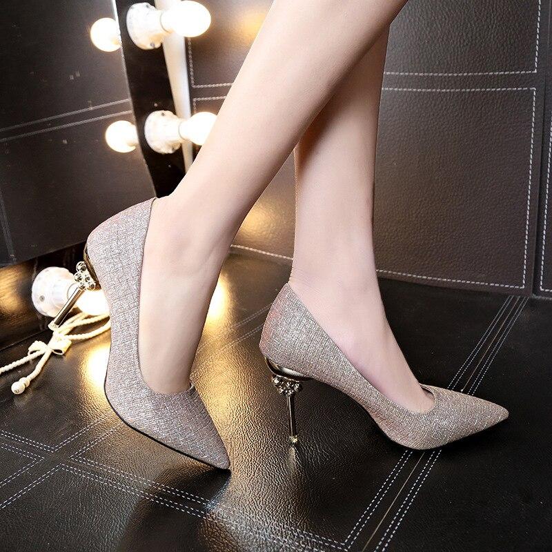 219d383a Y Tacón Otoño Alto Zapatos De Moda Nueva Mujer Rosado La 2018 Individuales  Mujeres Elegante Las ...