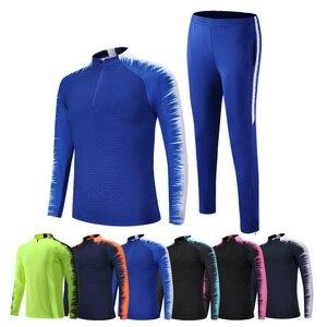 Image 3 - Erkek sonbahar kış erkek futbol eşofman uzun kollu ceket futbol forması koşu futbol eğitimi takım elbise oyuncular spor