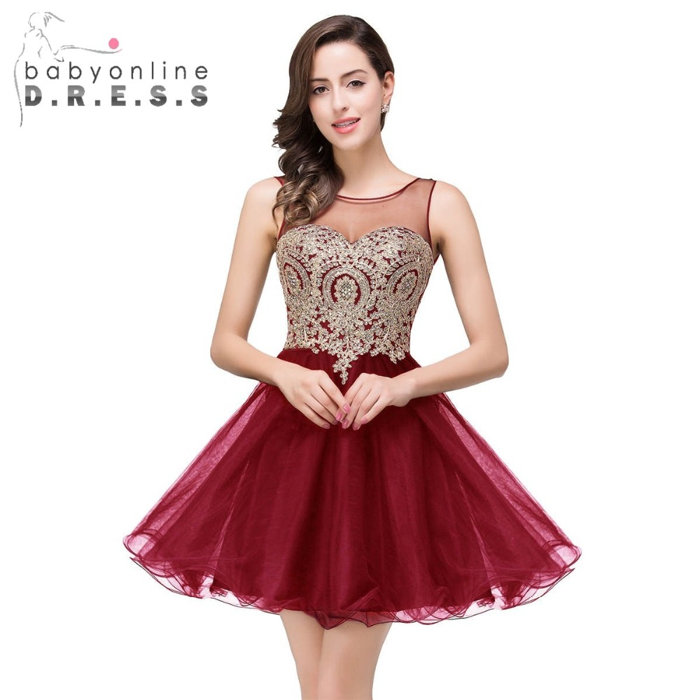 Burgundy Short Homecoming Dresses