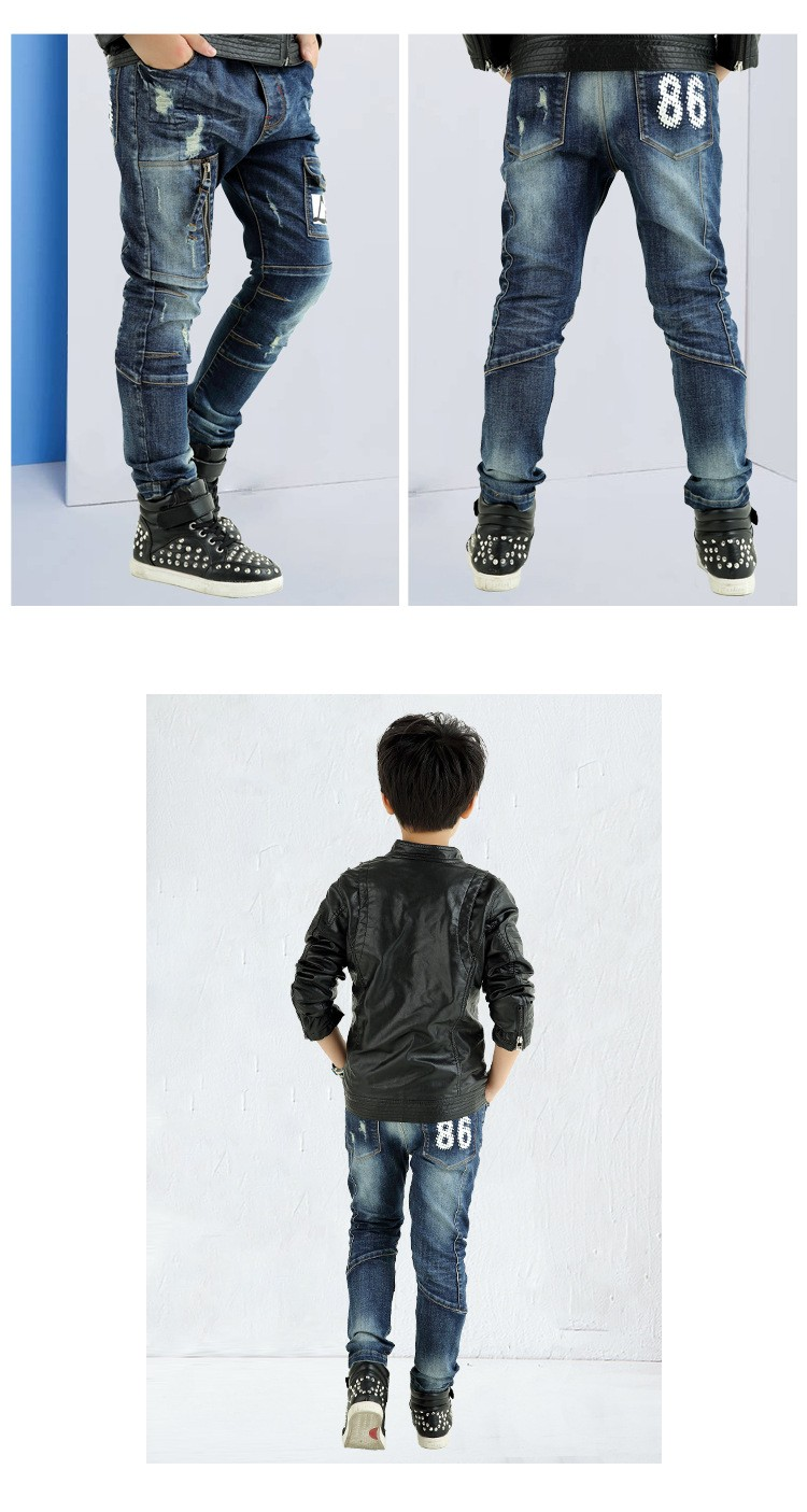 fashion 2017 spring autumn kids letter jeans boys pants kid clothes mid elastic waist children denim pant clothing for teenagers bottom clothees 6 7 8 9 10 11 12 13 14 15 16 years old (7)