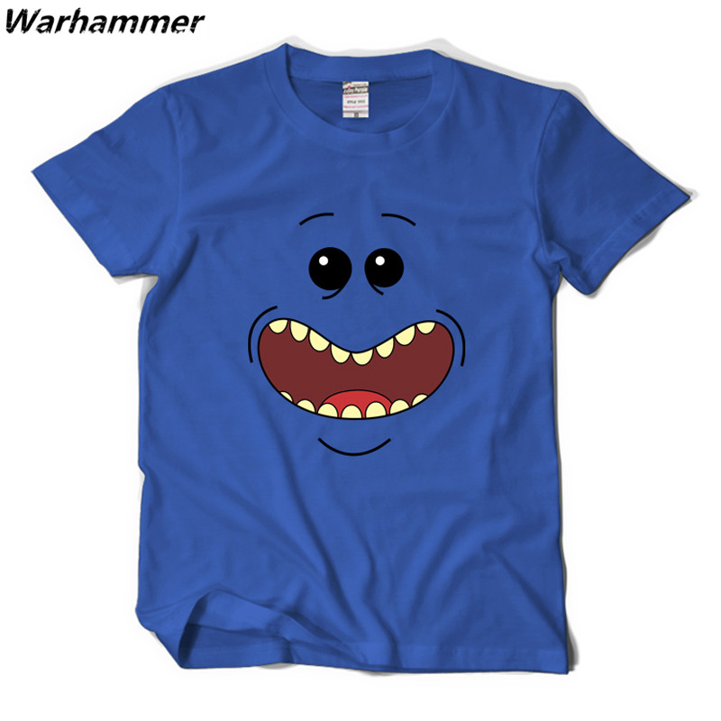 Riche et Morty Mr. Meeseek 3d t-shirt drôle o-cou grande cour finecotton élastique fitness t-shirt hommes anime chemise livraison gratuite