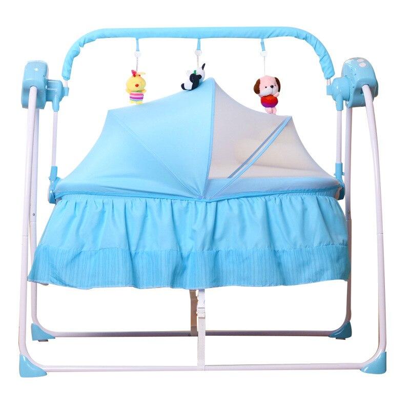 Baby Electric Cradle Bed Sleeping Cradle Baby Cradle Neonatal Automatic Small Cradle Intelligent Baby Sleeping Artifact