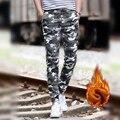 Зима руно классический камуфляж военных грузов брюки досуг брюки эластичная талия брюки случайные плюс бархат брюки jogger