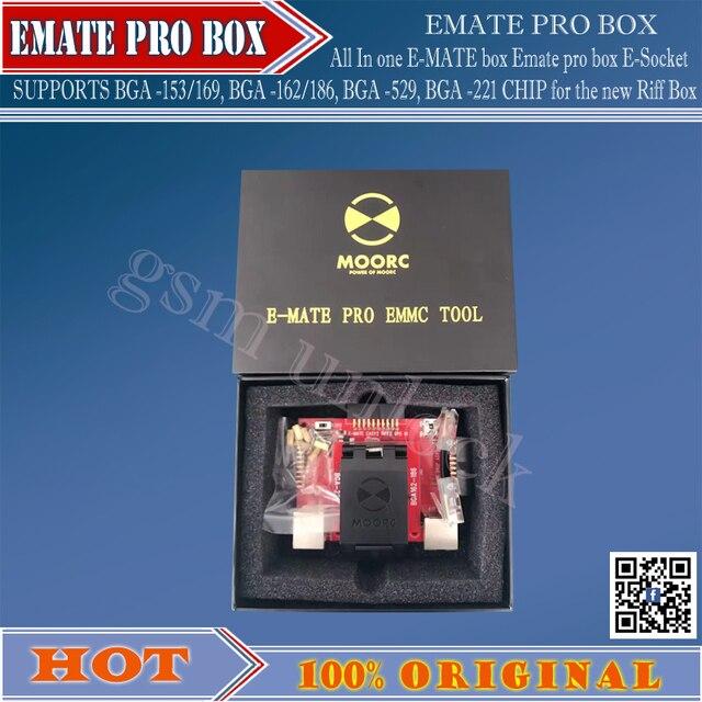 Hot ! E-MATE pro box Emate box E-Socket all in one SUPPORTS  BGA -153/169, BGA -162/186, BGA -529, BGA -221 CHIP forjtagbox