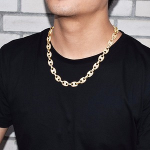 """Image 2 - 12MM Gold Color Cuban Link Necklace Bling Mens Hip hop Jewelry 18 K Copper Iced Zircon Cuban Chain  18"""" For Gift"""