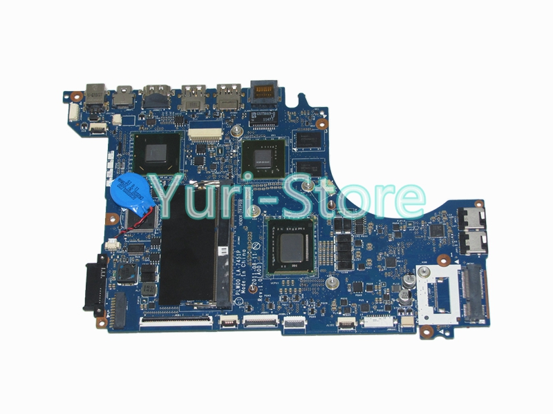 NOKOTION For Dell XPS 14Z L412 Notebook CF-0F2DV7 0F2DV7 F2DV7 PC Main Board PLW00 LA-7451P GeForce GT520M I7-2640M CPU