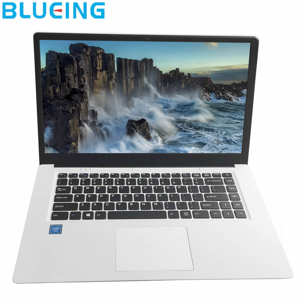 15.6 Inch Ultra-slim Sliver Laptop 2GB 32GB SSD Large Battery Windows 10 WIFI Bluetooth Notebook Computer  PC Free Shipping