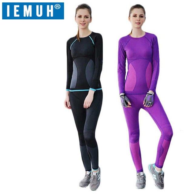 Iemuh новые зимние комплекты термобелья женские брендовые анти-микробных стрейч женские термо белье женские теплые подштанники