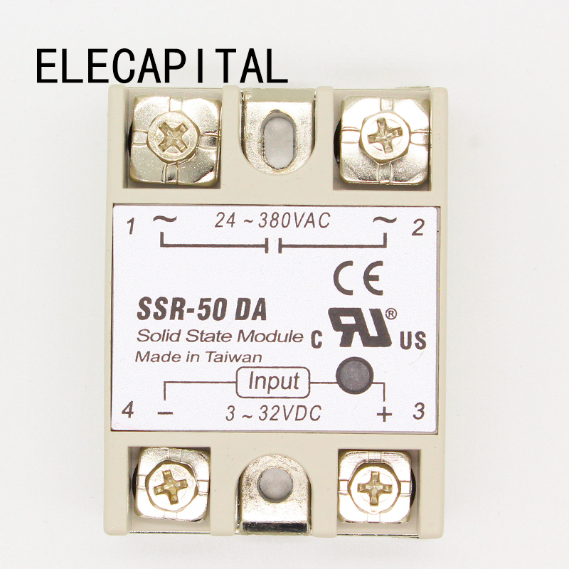 1PC SSR-50 DA SSR-50DA Manufacturer 50A SSR Relay input 3-32VDC output 24-380VAC Good Quality with Plastic Cover Wholesale Hot1PC SSR-50 DA SSR-50DA Manufacturer 50A SSR Relay input 3-32VDC output 24-380VAC Good Quality with Plastic Cover Wholesale Hot