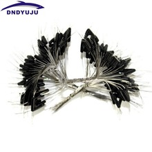 200pcs Brand Dndyuju Double Hooks Contactor Device Fishing Line Space Bifurcation Eight type Space Bean Line Swivel Tying Tool