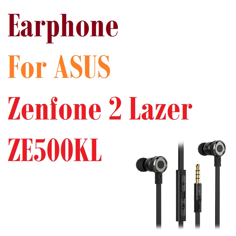 цена на Professional Heavy Bass Sound Quality Music Earphone For ASUS Zenfone 2 Lazer ZE500KL Earbuds Headsets With Mic Earphones