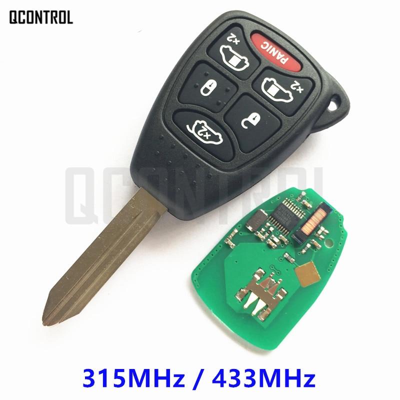 QCONTROL Remote Key with Chip for DODGE Car Vehicle Magnum Grand Caravan Durango Caliber Charger Avenger RAM Nitro Dakota Alarm