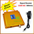 2G GSM 900Mhz Mobile Phone Signal Booster GSM950 Signal Repeater GSM Signal Amplifier with Power Supply LCD Display / Golden