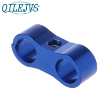 Stepped Billet Dual AN10 3/4 19MM Braided Hose Separator Clamp Cable Fastener